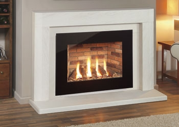 Nu Flame Gas Fires UK Glass Fronted Landscape High Efficiency